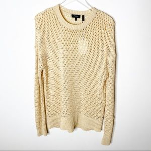 Theory Knitted Pullover Sweater Scoop Neck Medium